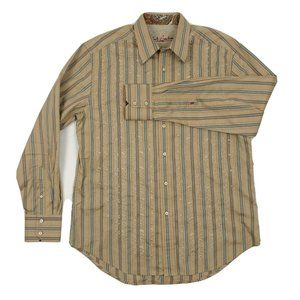 Robert Graham Flip Cuff Luxury Shirt Embroidered